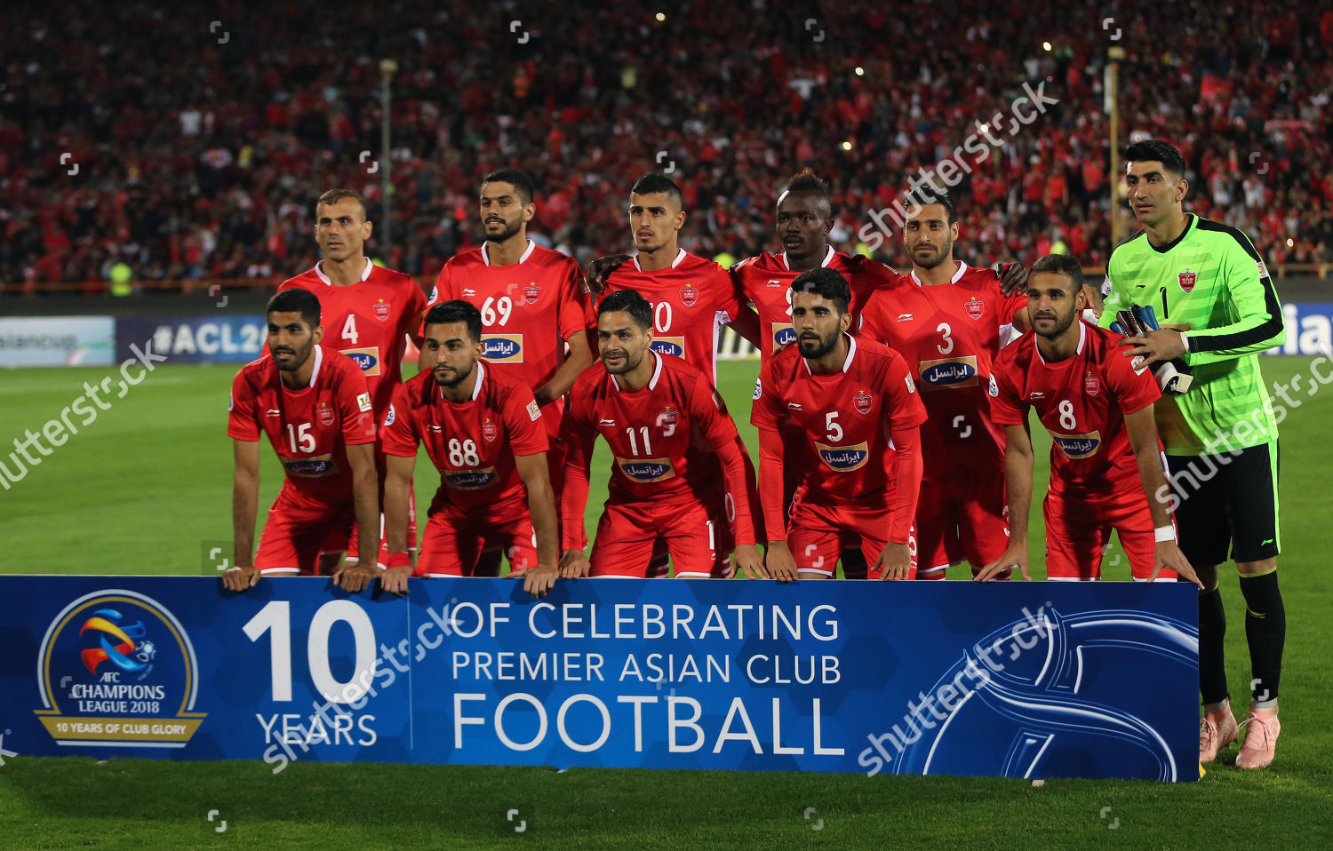 Persepolis Players Pose Team Picture Before Afc Editorial Stock Photo Stock Image Shutterstock
