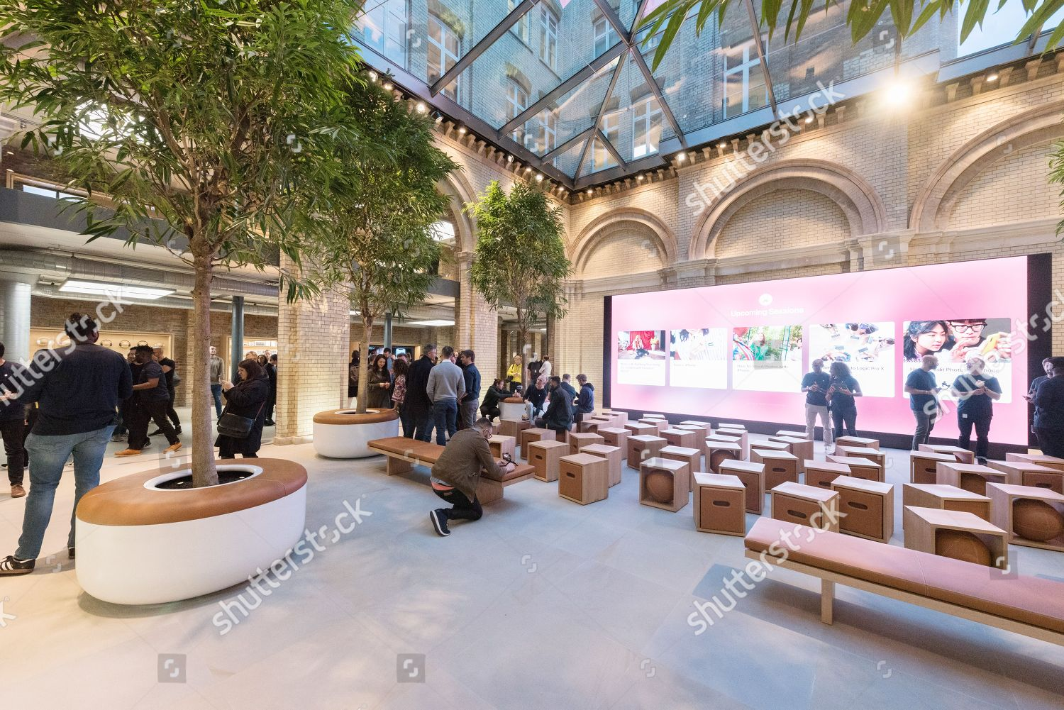 Interior redeveloped Apple Covent Garden store large