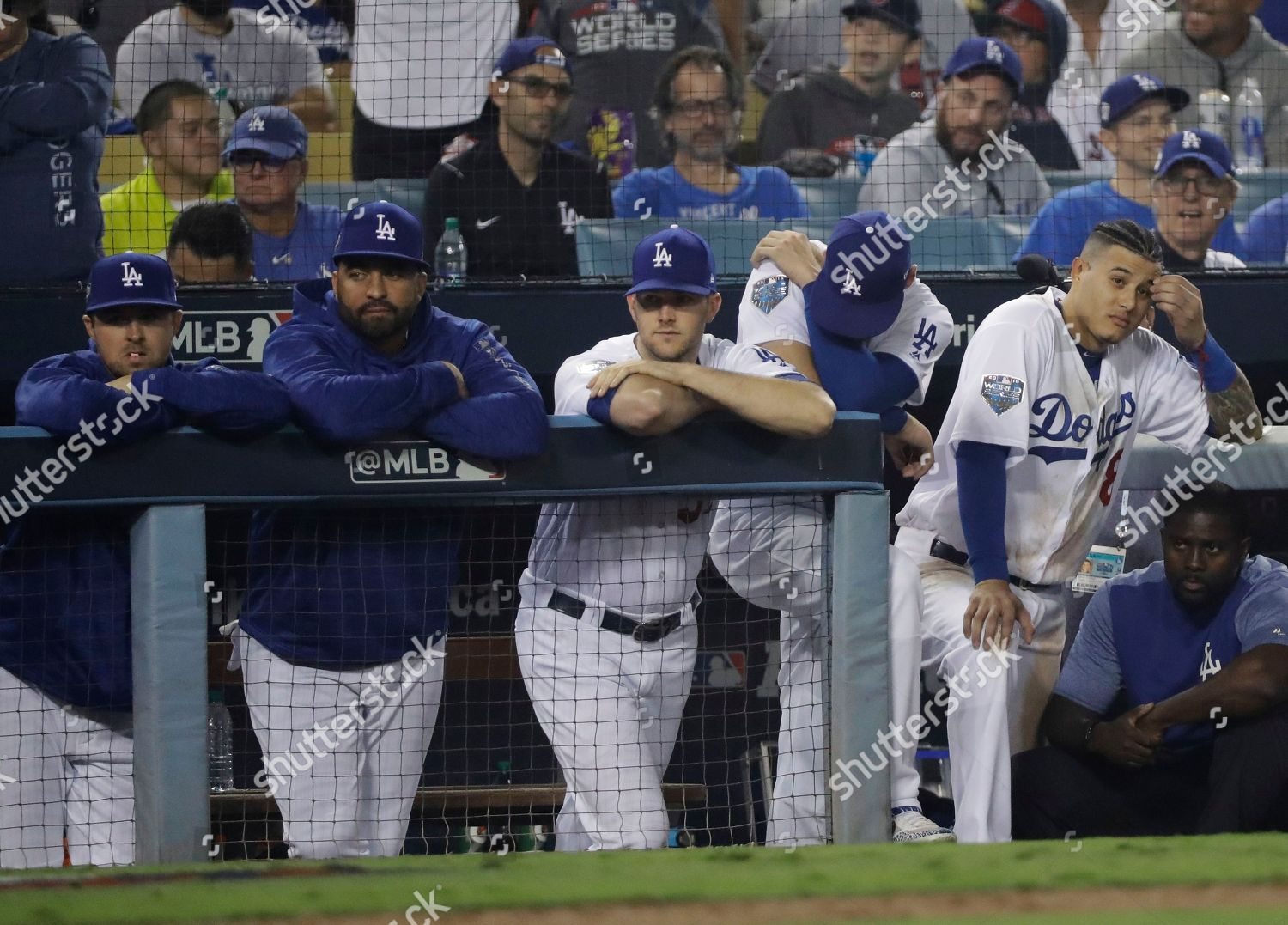 Los Angeles Dodgers watch ninth inning their Editorial Stock