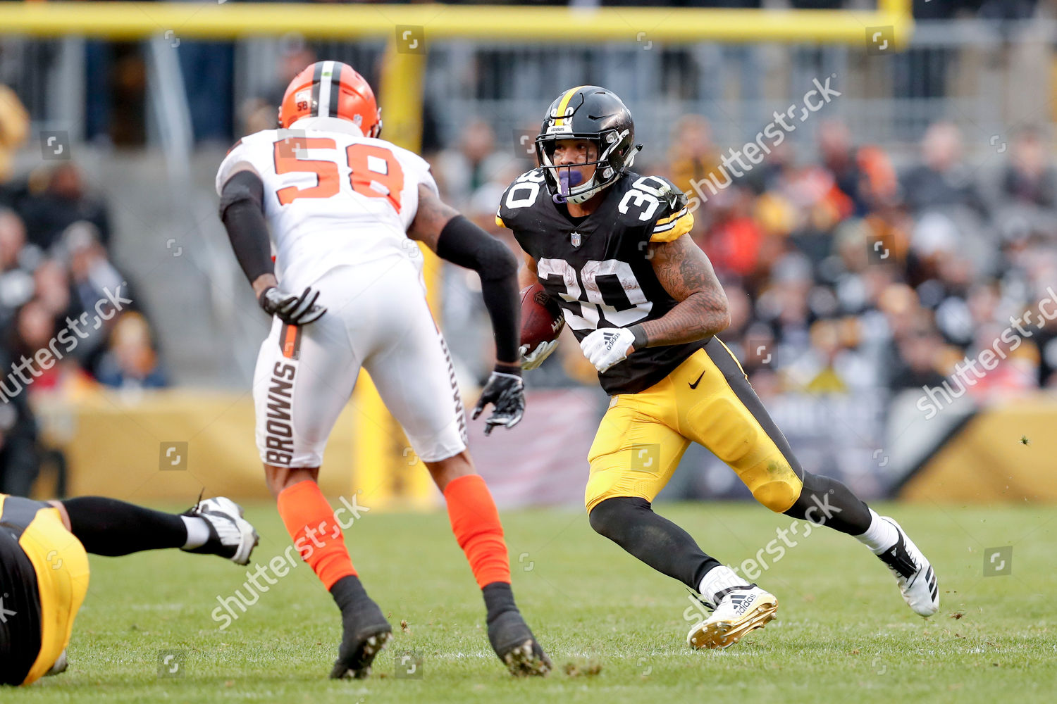 3d60a09b3 Pittsburgh Steelers running back James Conner 30 Editorial Stock ...