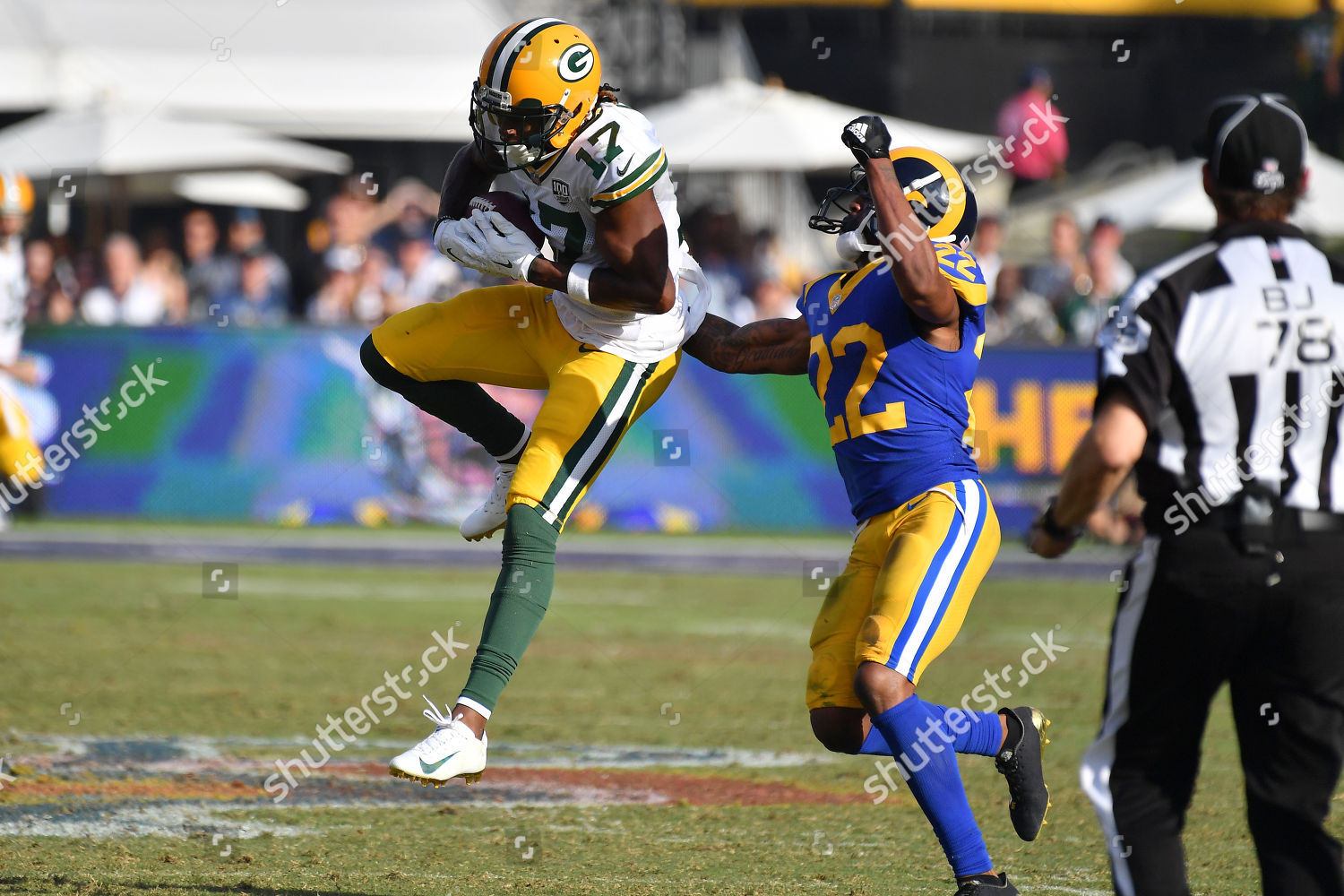 Los Angeles Cagreen Bay Packers Wide Receiver Editorial Stock Photo Stock Image Shutterstock