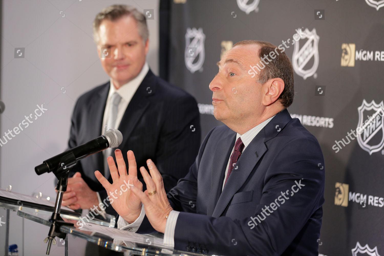 National Hockey League Commissioner Gary Bettman Right Editorial