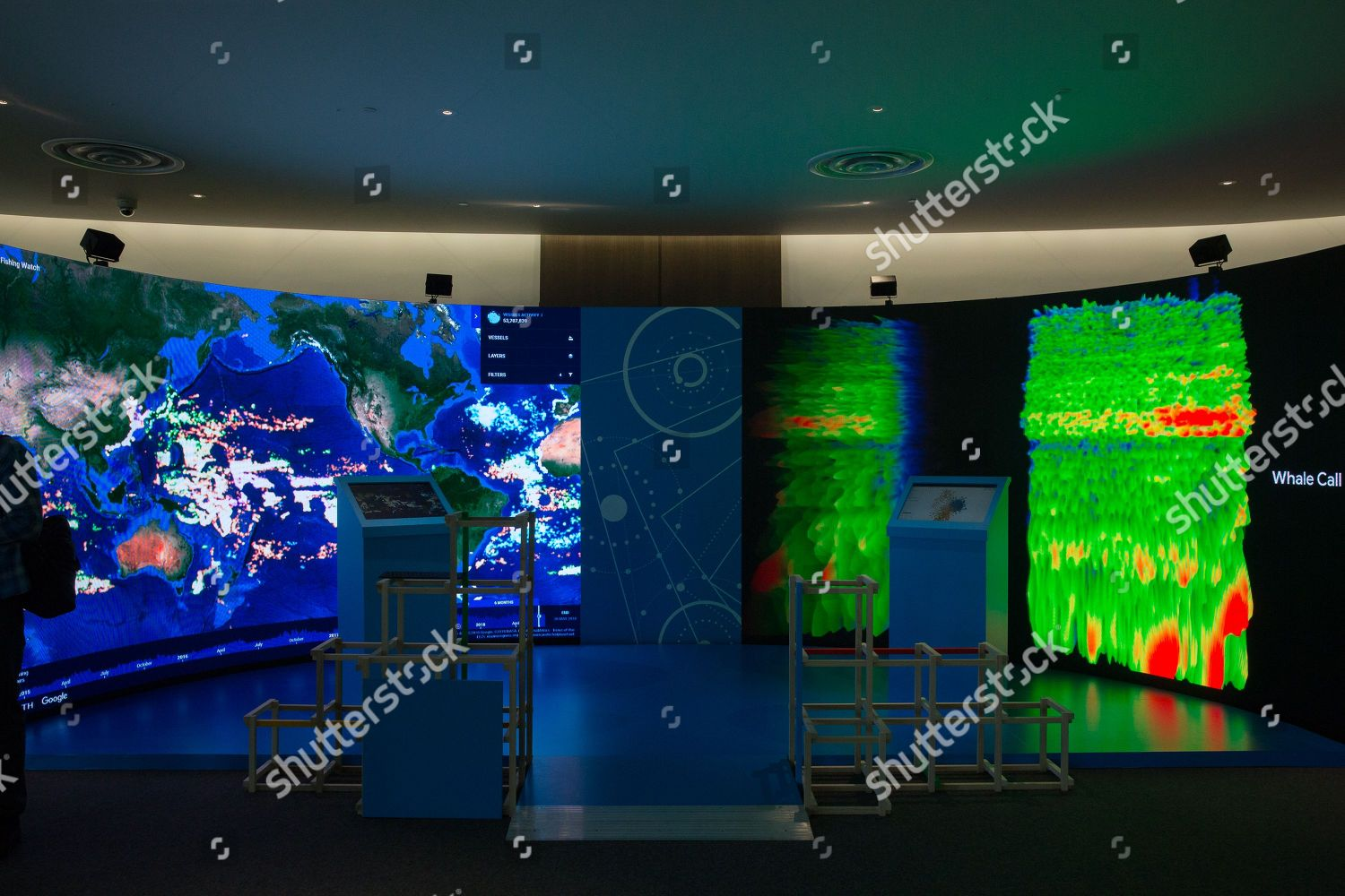 video wall shows graphical representations datasets created
