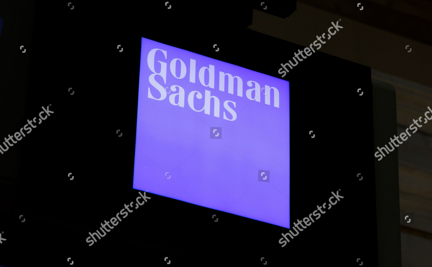 view sign Goldman Sachs New York Stock Editorial Stock Photo