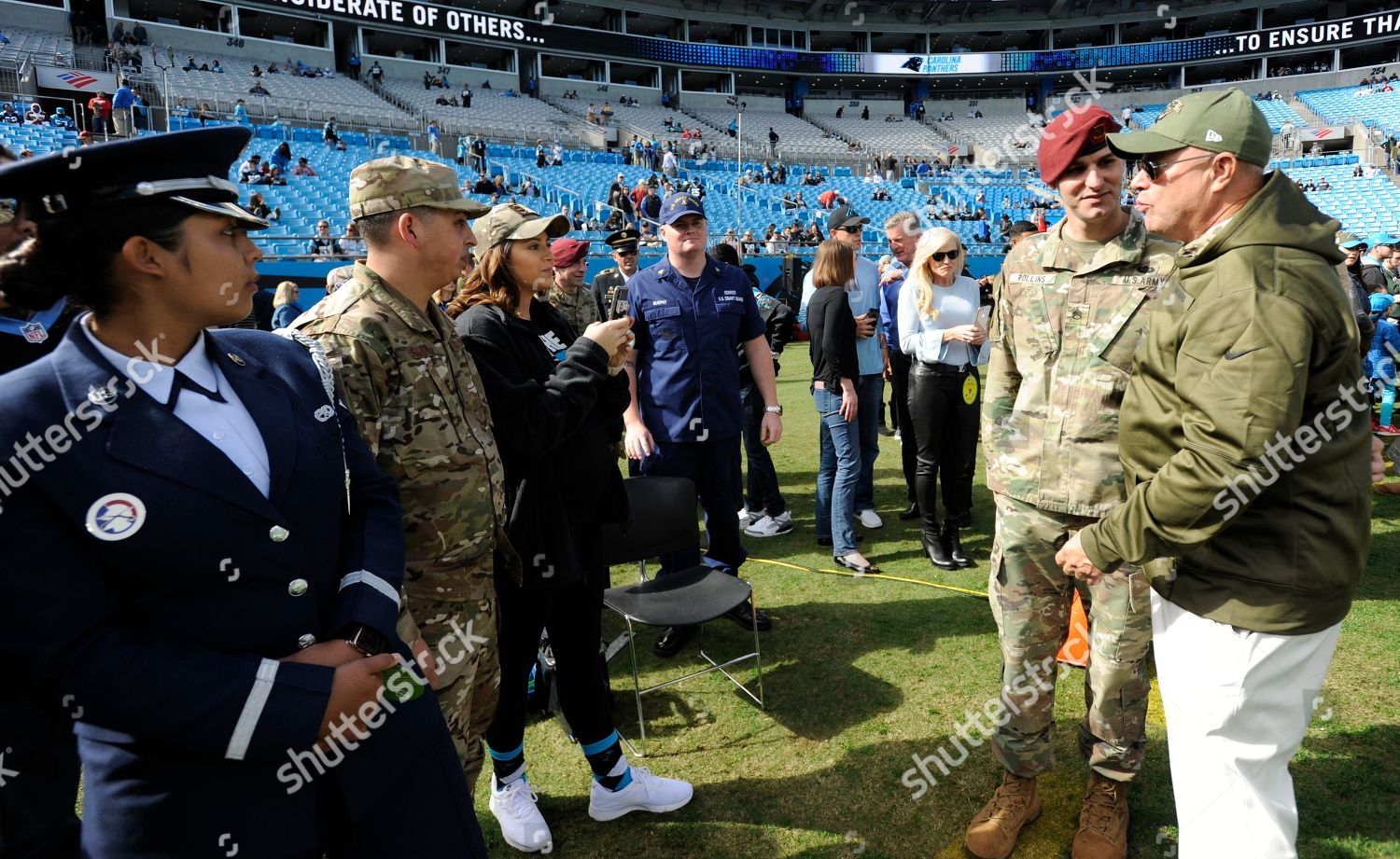 Carolina Panthers owner David Tepper wears military Editorial Stock