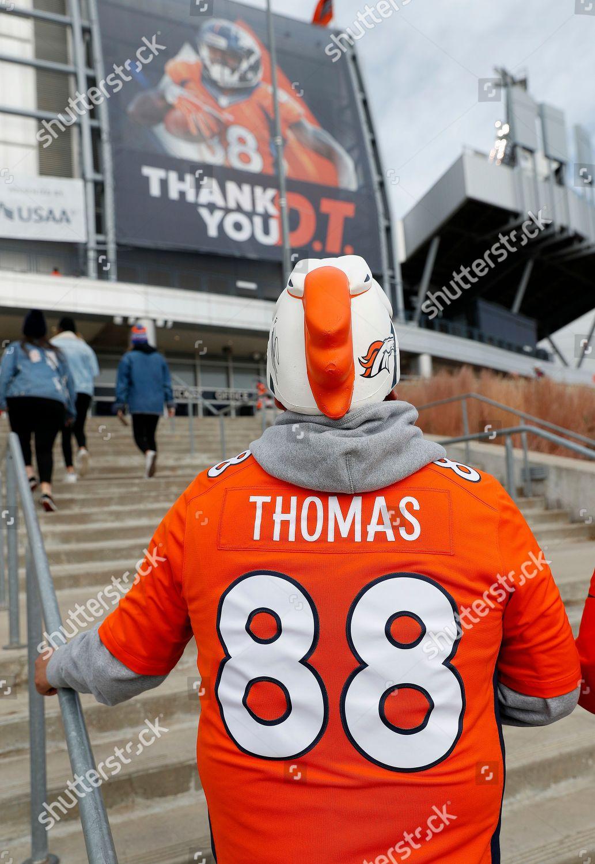 size 40 2654d e9160 Denver Broncos fan wears former Denver Broncos Editorial ...