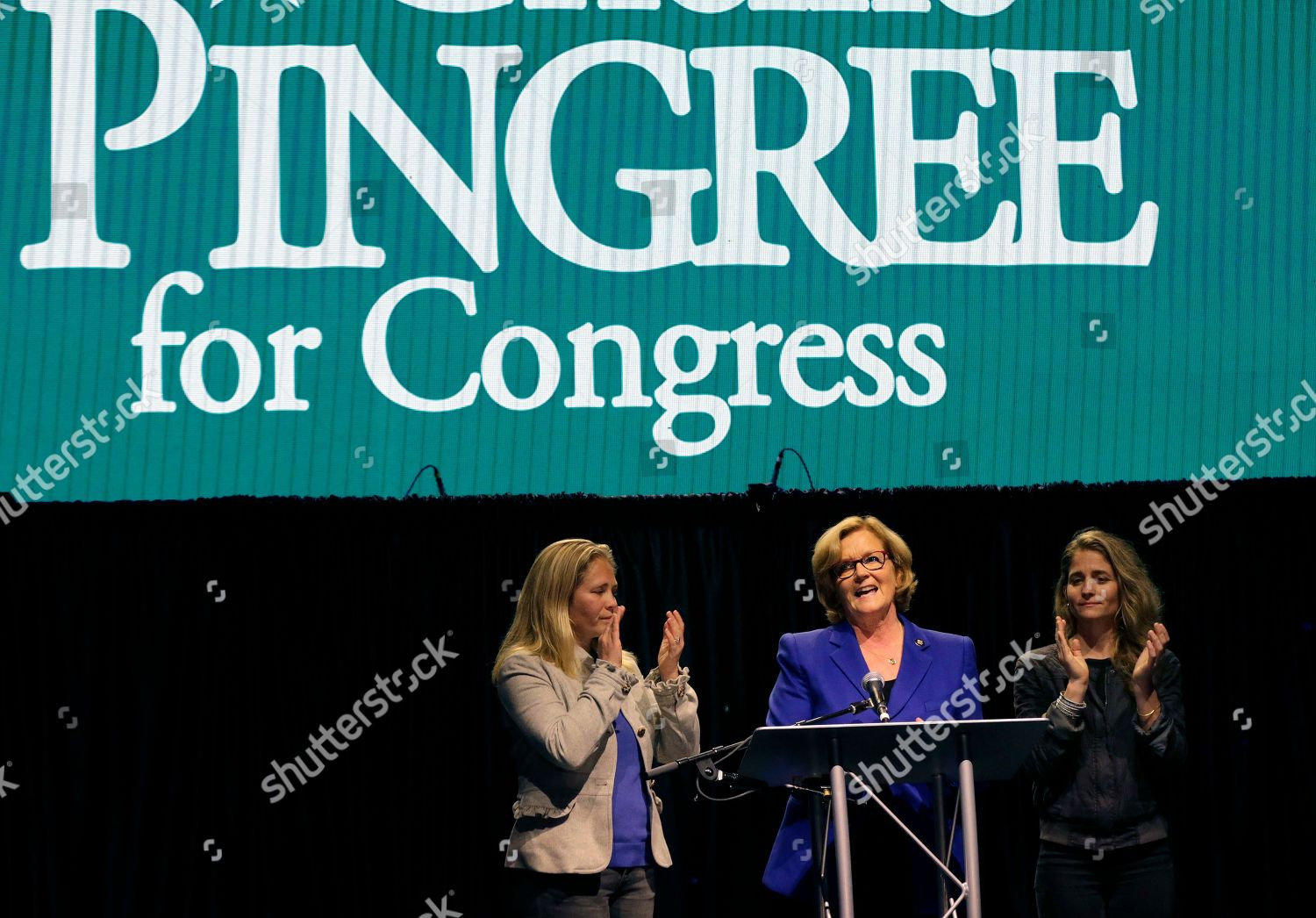 Us Rep Chellie Pingree Dmaine Speaks Supporters Editorial