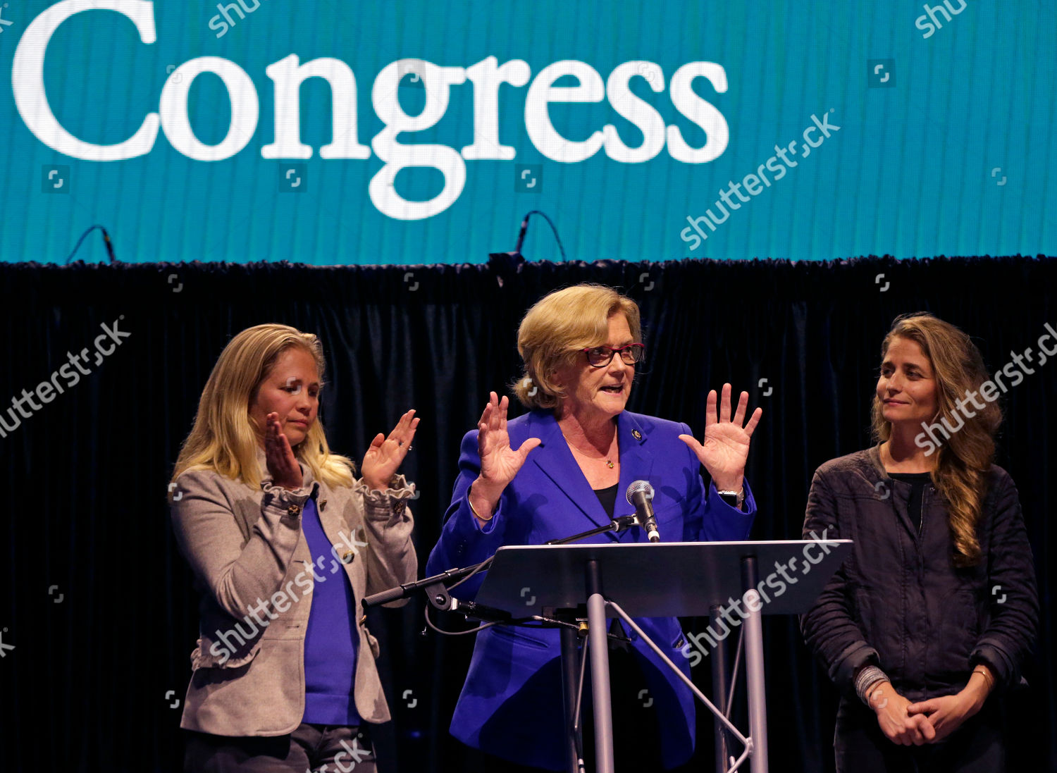 Us Rep Chellie Pingree Dmaine Speaks Supporters Foto