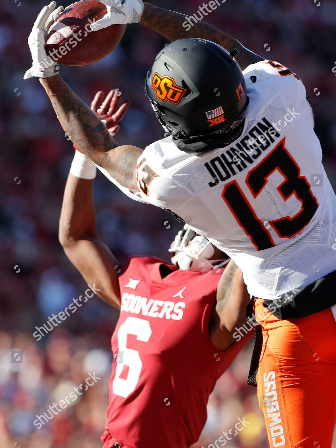 buy popular f8a3b 896bd Oklahoma State wide receiver Tyron Johnson 13 Editorial ...