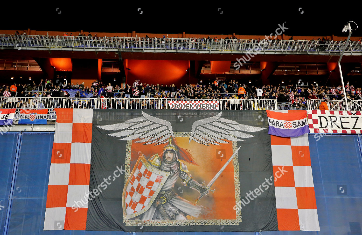 Croatia Fans Display Banner Editorial Stock Photo Stock Image Shutterstock