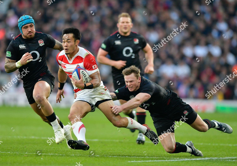 a6e71e0ecd6 Stock photo of England v Japan, Quilter International 2018, Autumn  International, Rugby Union
