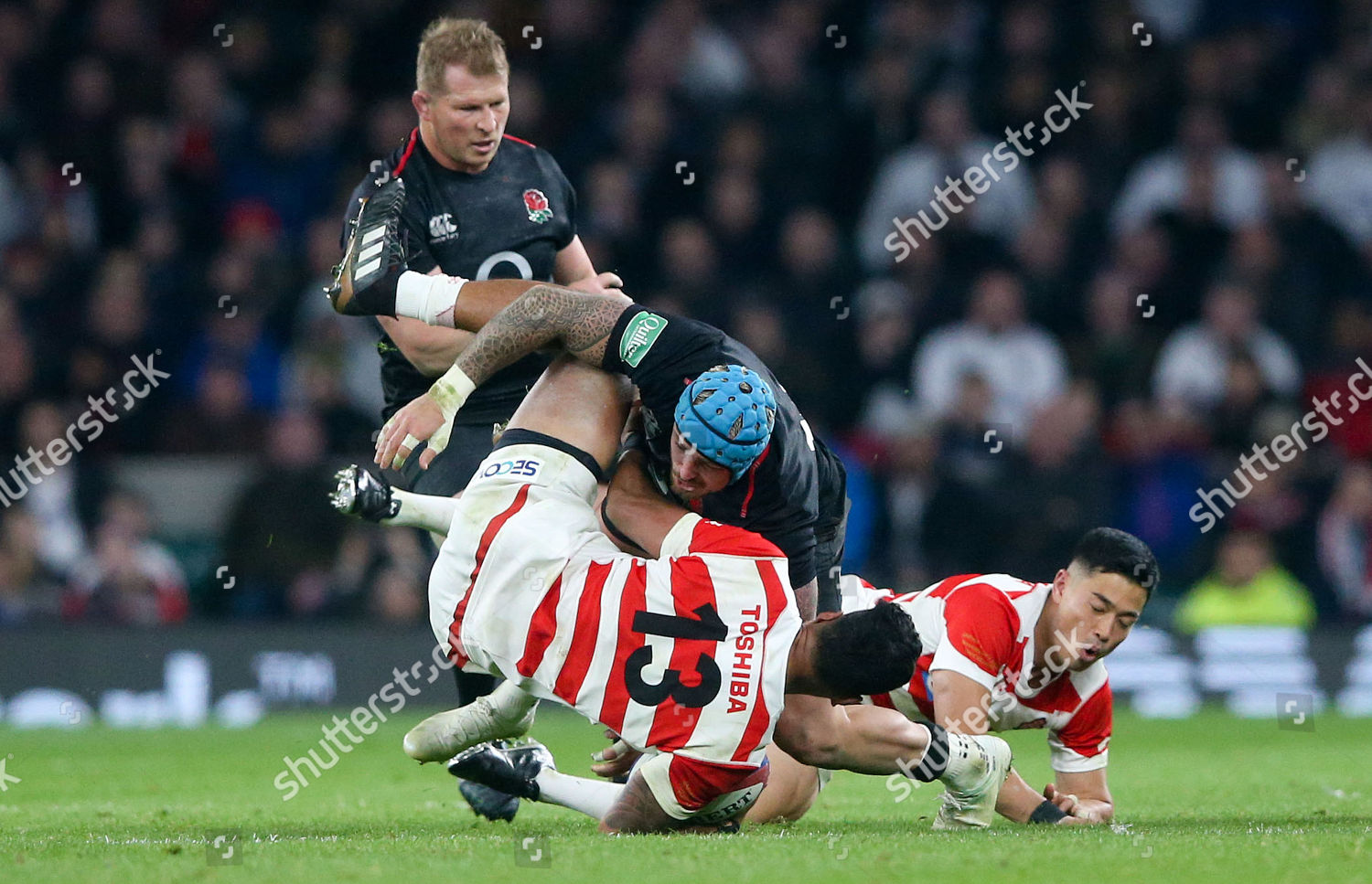 53f033dcc03 England v Japan, Rugby Union, Quilter Autumn Internationals - Twickenham  Stadium, London, UK - 17 Nov 2018 Stock Image by Andrew Fosker for  editorial use, ...