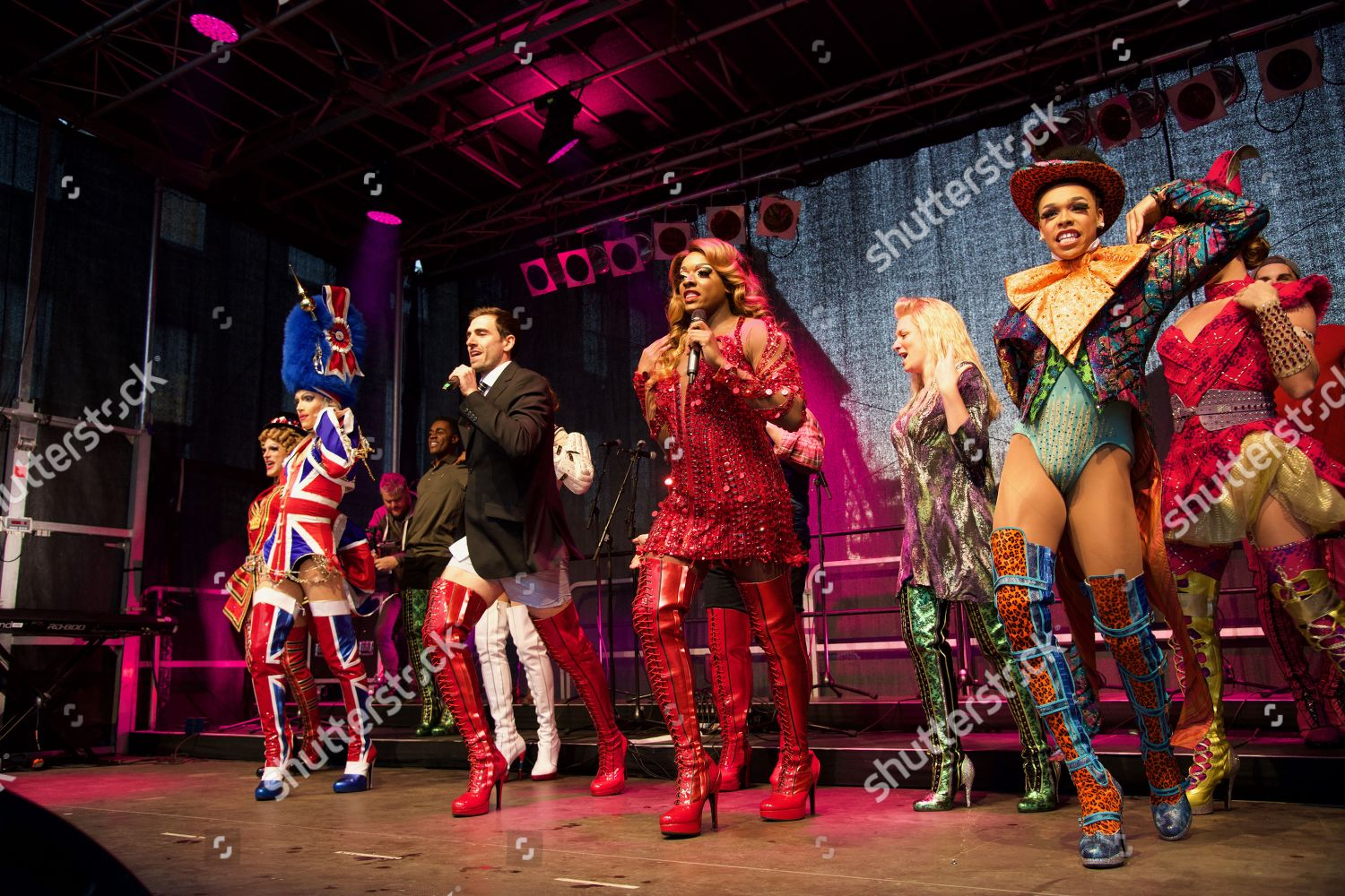 Cast members Kinky Boots musical on stage Editorial Stock Photo ...
