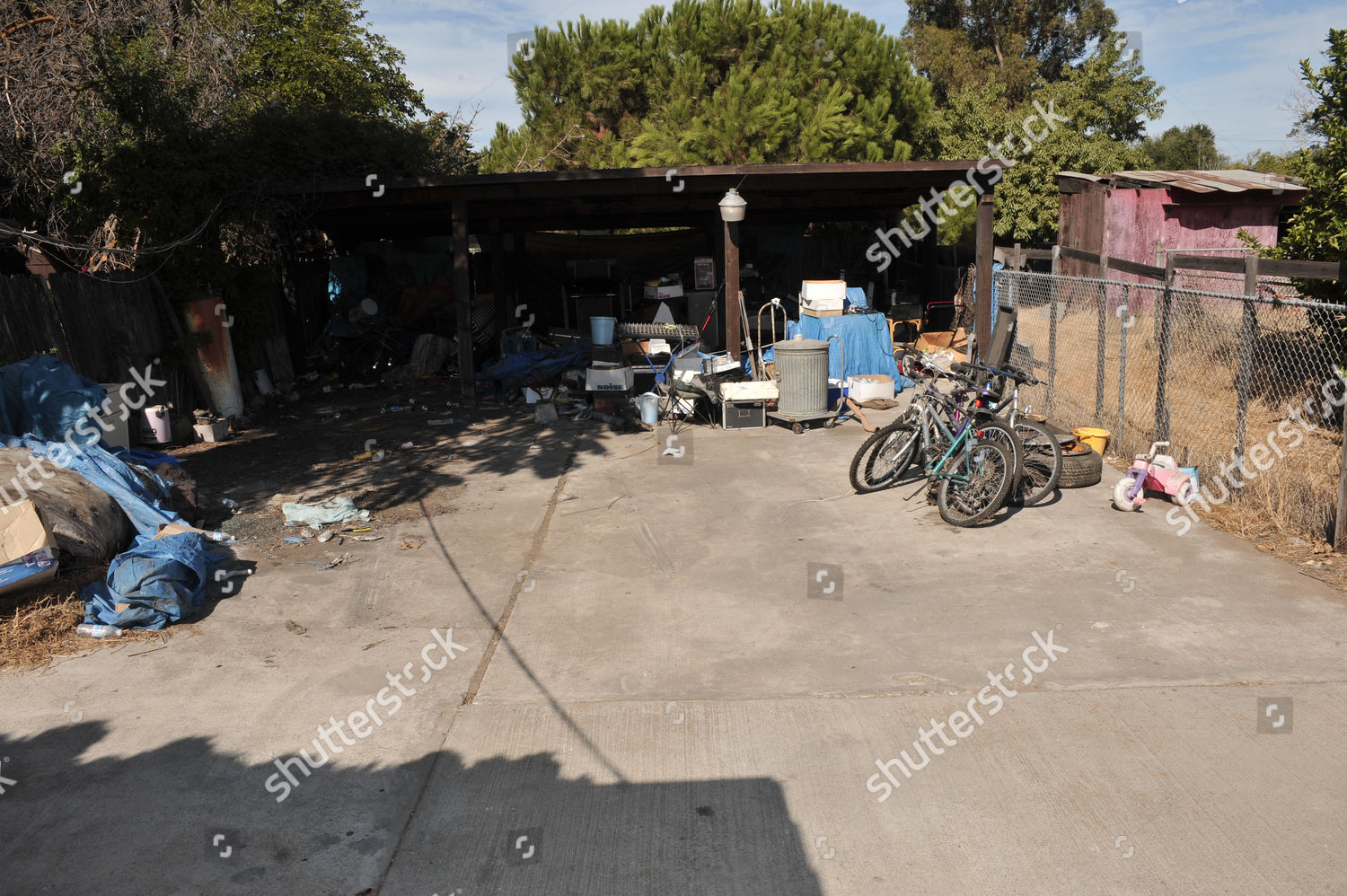 Editorial Stock Photo Of Back Yard House Where Jaycee Lee Dugard