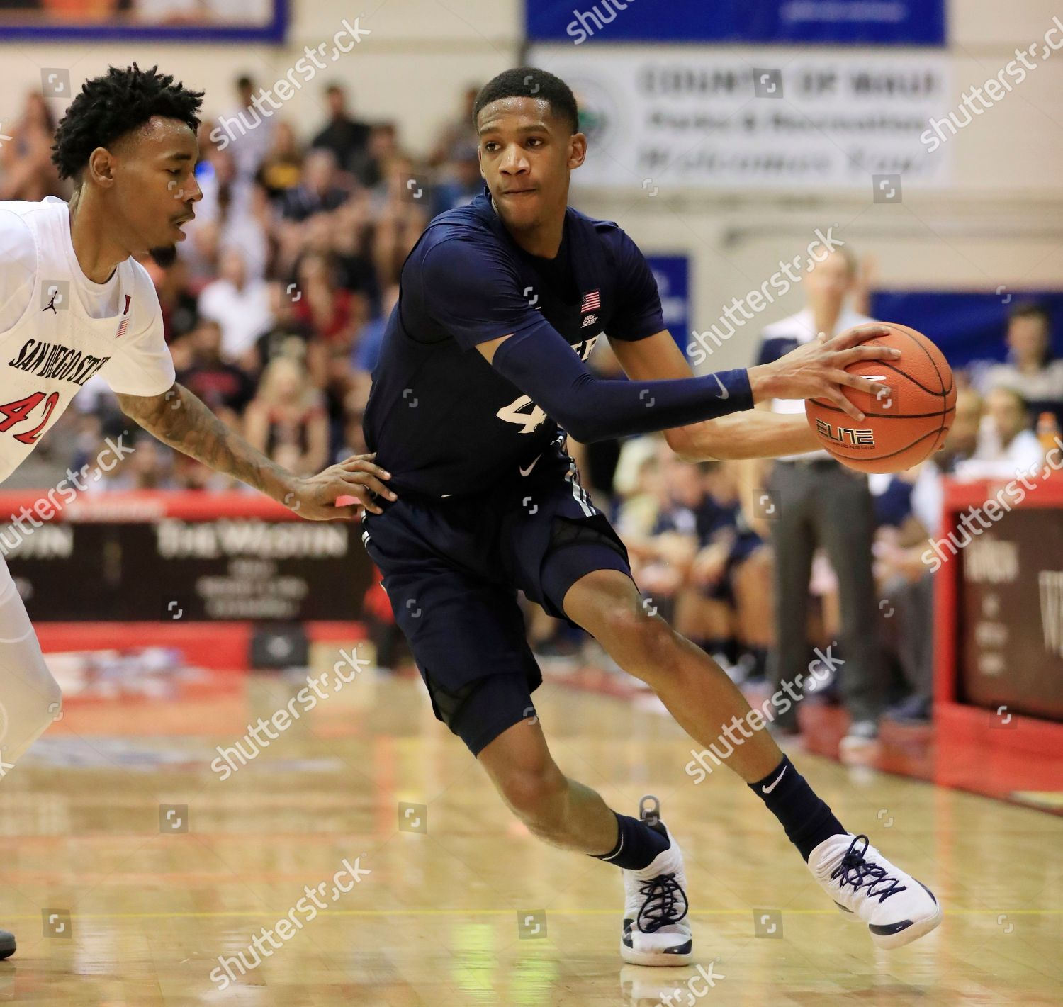 78ddaa8acaa Xavier guard Elias Harden 4 tries get Editorial Stock Photo - Stock ...