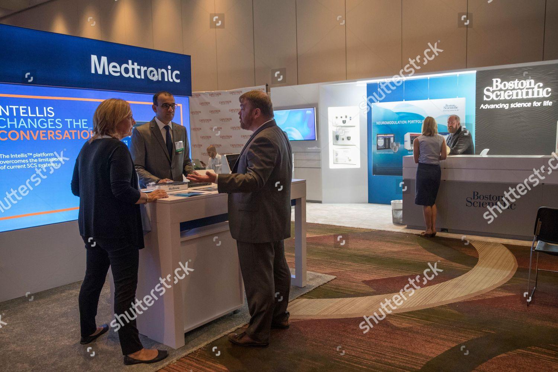 Sales representatives Medtronic Boston Scientific work their