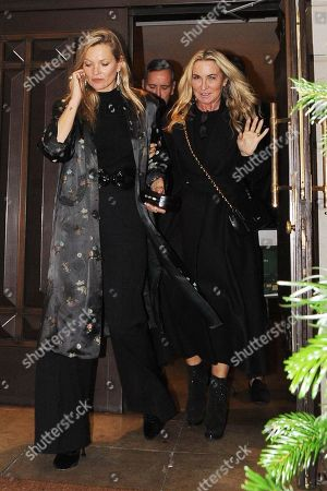 Kate Moss and Meg Mathews at China Tang restaurant