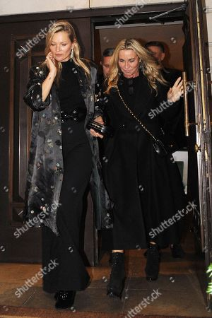 Stock Picture of Kate Moss and Meg Mathews at China Tang restaurant