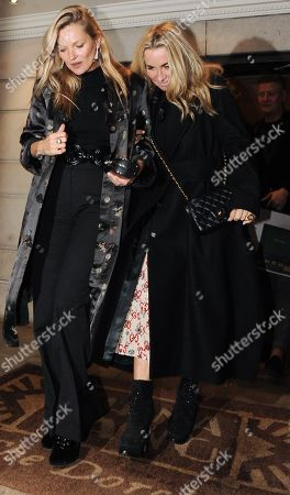 Editorial photo of Kate Moss and Meg Matthews out and about, London, UK - 27 Nov 2018