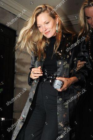 Stock Image of Kate Moss at China Tang restaurant