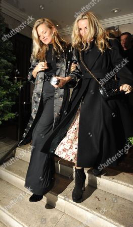 Editorial image of Kate Moss and Meg Matthews out and about, London, UK - 27 Nov 2018