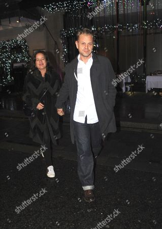 Adrian Fillary and Jade Jagger at Scotts Restaurant