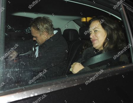 Stock Photo of Adrian Fillary and Jade Jagger at Scotts Restaurant