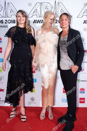 Stock Photo of Lucia Hawley, Nicole Kidman and Keith Urban