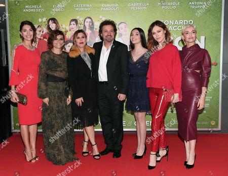 Caterina Murino, Antonia Truppo, Michela Andreozzi, the director Leonardo Pieraccioni, Mariasole Pollio, Gabriella Pession, Elena Cucci