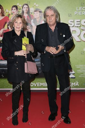 Director Enrico Vanzina with wife Federica Burger