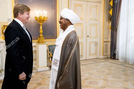 Dutch King Willem-Alexander accepts the diplomatic credentials of the Ambassador Kamal Bashir Ahmed Mohamed Khair of Sudan to The Netherlands, during a ceremony at the Noordeinde Palace in The Hague, The Netherlands, 28 November 2018.