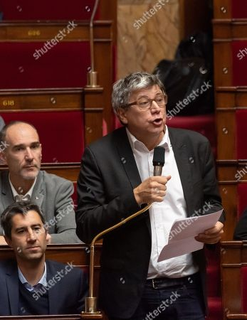 Stock Photo of Eric Coquerel during the weekly session of questions to the government at the National Assembly