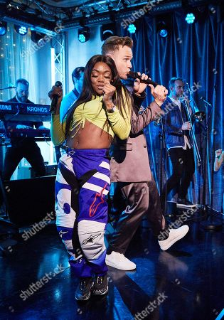 Lady Leshurr and Olly Murs.