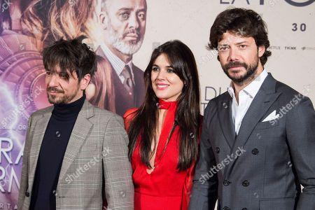 Oriol Paulo, Adriana Ugarte and Alvaro Morte