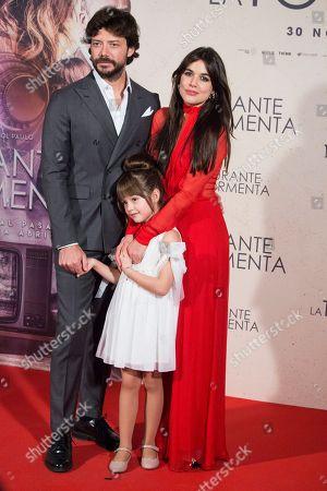 Alvaro Morte, Luna Fulgencio and Adriana Ugarte