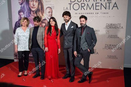 Ana Wagener, Oriol Paulo, Adriana Ugarte, Alvaro Morte and Miquel Fernandez