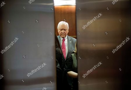 Sen. Orrin Hatch, R-Utah, boards an elevator as he heads to a closed door meeting about Saudi Arabia, on Capitol Hill in Washington. Senators who have grown increasingly uneasy with the U.S. response to Saudi Arabia after the killing of journalist Jamal Khashoggi grilled top administration officials at a closed-door briefing that could determine how far Congress goes in punishing the longtime Middle East ally