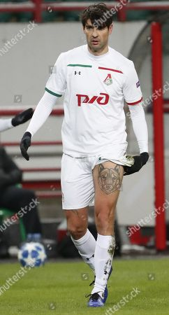 Lokomotiv Moscow's Vedran Corluka in action during the UEFA Champions League Group D soccer match between Lokomotiv Moscow and Galatasaray at the Lokomotiv stadium in Moscow, Russia, 28 November 2018.