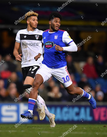 Lloyd Kelly of Bristol City and Ellis Harrison of Ipswich Town