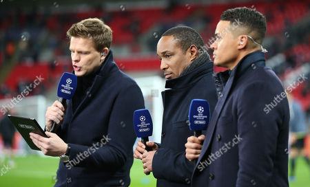 Stock Picture of Paul Ince (centre) with Jermaine Jenas (R) & Jake Humphrey