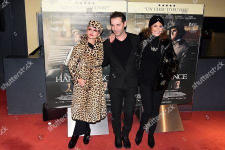 Stock Picture of Catherine Baba, Stephane Derouet, Marisa Berenson