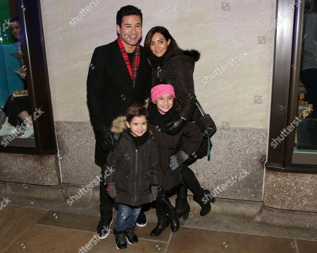 Mario Lopez, Courtney Mazza, Gia Francesca Lopez, Dominic Lopez. Mario Lopez, from left, wife Courtney Mazza and children Gia Francesca Lopez and Dominic Lopez attend the 86th annual Rockefeller Center Christmas Tree Lighting Ceremony, in New York