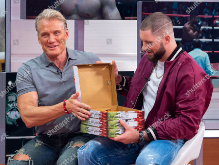 Stock Photo of Dolph Lundgren and Florian Munteanu