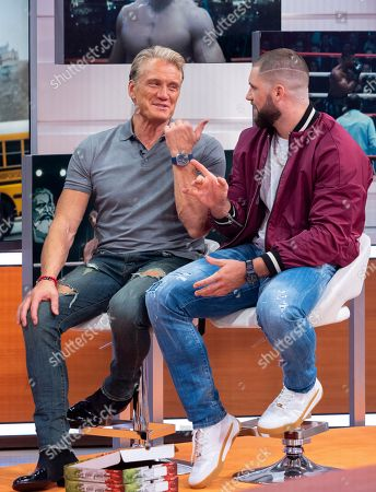 Stock Picture of Dolph Lundgren and Florian Munteanu