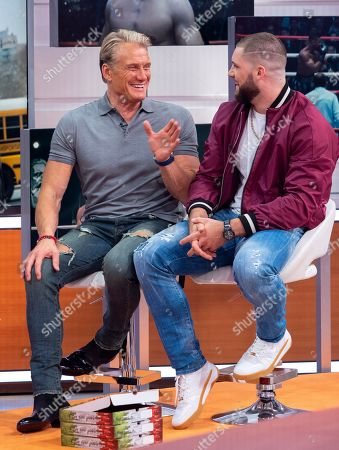Stock Image of Dolph Lundgren and Florian Munteanu