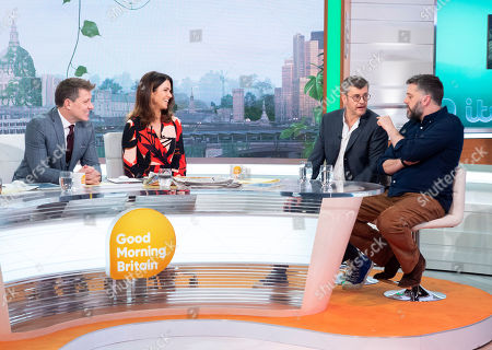 Ben Shephard and Susanna Reid with Joe Pasquale and Iain Lee
