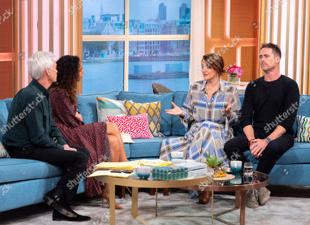 Phillip Schofield and Rochelle Humes with James Murray and Sarah Parish