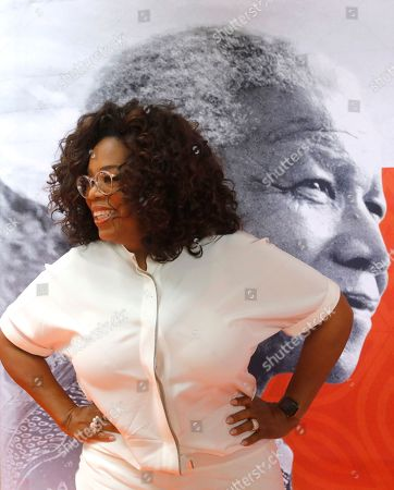 "Ms Oprah Winfrey arrives at the  Is'thunzi Sabafazi event held in Soweto, Johannesburg, South Africa, 29 October 2018.  The Nelson Mandela Foundation along with the Graça Machel Trust, Kuhluka Movement, and Zoleka Mandela Foundation hosted an event as part of the ""Remembrance period"" to mark five years since Madiba's passing and to recognize the 16 Days of Activism against Gender-based Violence."