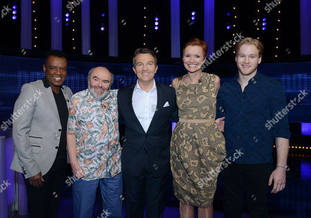 (L-R) David Grant, Andy Hamilton, Bradley Walsh, Pixie McKenna and Jonnie Peacock