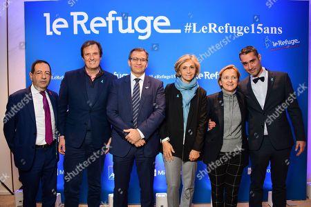 Jean Luc Romero-Michel, Jerome Chartier, Patrick Karam, Valerie Pecresse, Florence Berthout and Nicolas Noguier.
